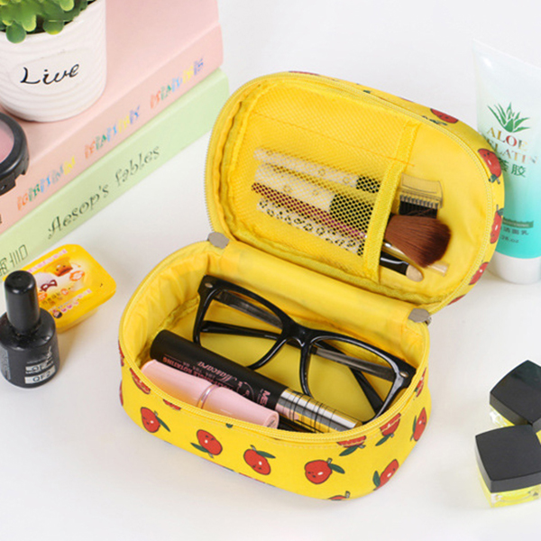 Women Waterproof Storage Bag Portable Print Cosmetic Bag Travel Wash Storage Bag Handbag