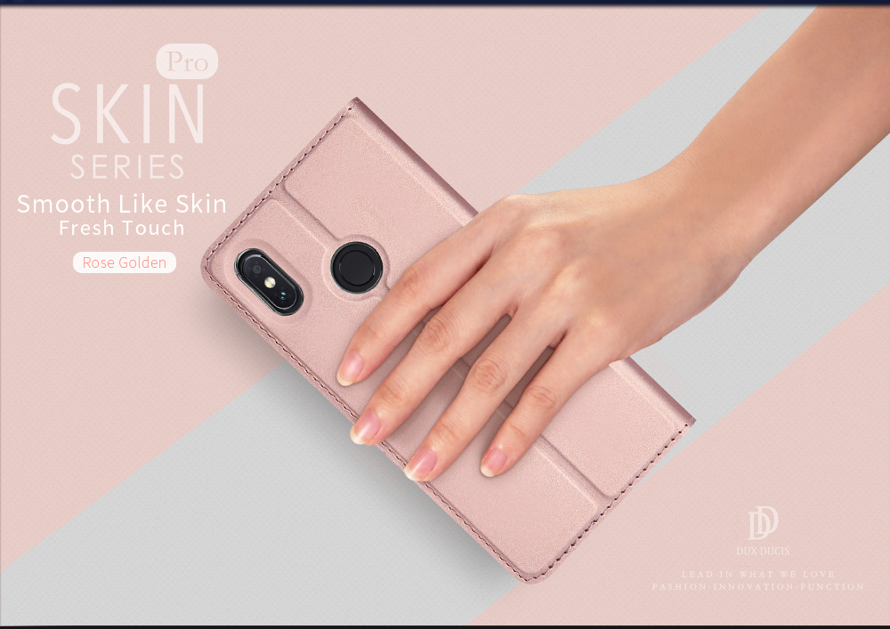 Dux Ducis Flip Magnetic Card Slot Stand Full Body PU Leather Protective Case For Xiaomi Mi Max 3