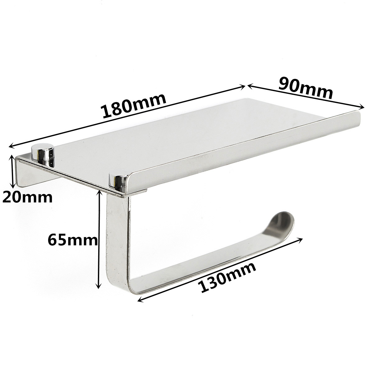 Stainless Steel Toilet Roll Tissue Stand Paper Holder Wall Mounted for Home Bathroom Paper Hook