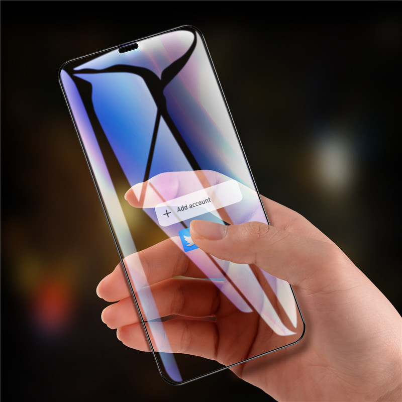 Bakeey 9D Curved Edge Tempered Glass Screen Protector For iPhone XS Max Scratch Resistant Film