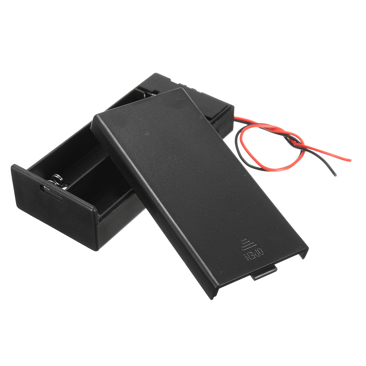 Plastic Battery Holder Storage Box Case Container w/ON/OFF Switch For 2x18650 Batteries 3.7V