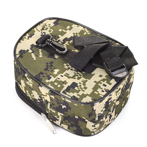 Fishing Bag Men Oxford Camo Rod Barrel Fanny Pack Durable Waist Bag
