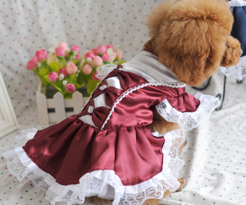 Lovely Dog Dress Puppy Wedding Dress Formal Dress Doggy Skirt Dog Clothes