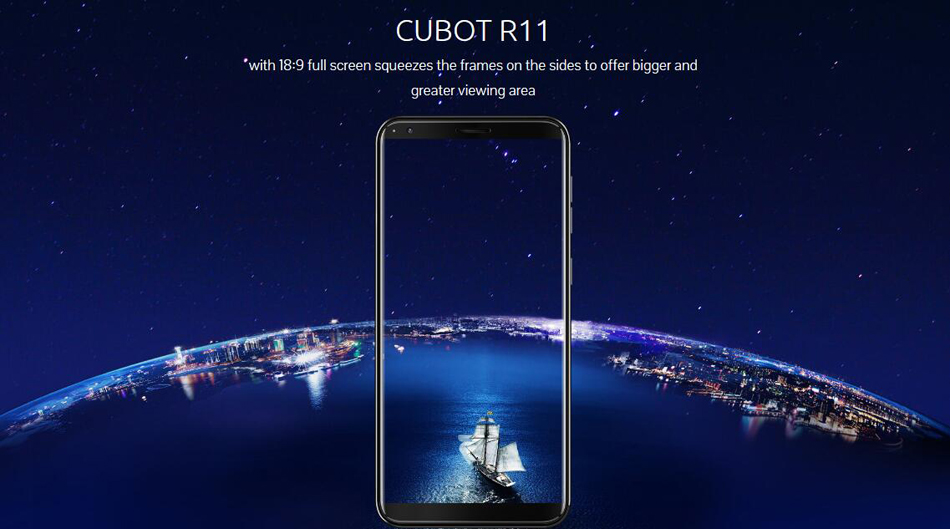Cubot R11 5.5 Inch 18:9 Android 8.1 2GB RAM 16GB ROM MT6580 Quad-Core 1.3GHz 4G Smartphone