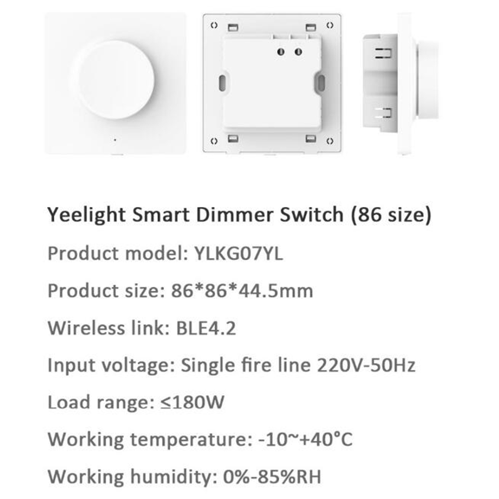 Xiaomi Yeelight Smart bluetooth Dimmer Wall Light Switch Remote Control AC220V