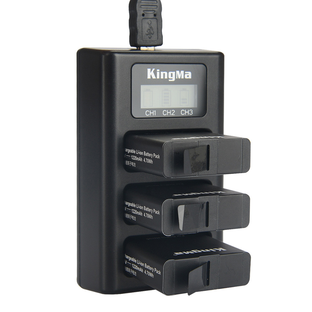 9eb424a090b KingMa BM043 USB 3 Channel Battery Three Way Charger fo for sale
