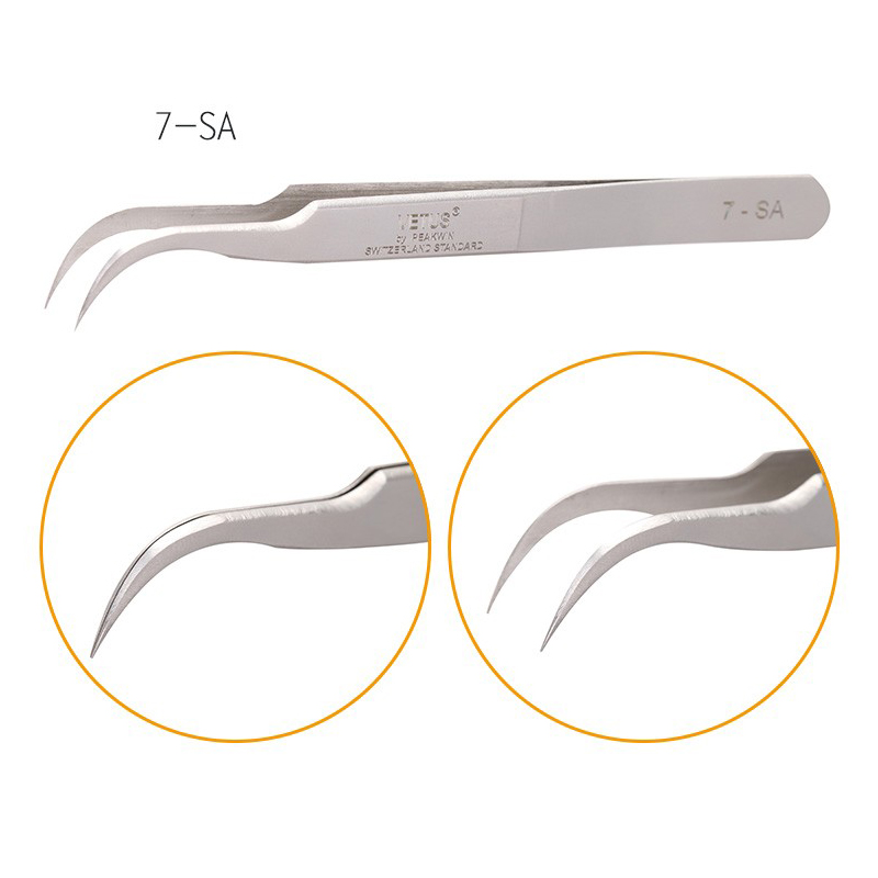 VETUS Stainless Steel Anti-static Eyelash Repair Tweezer Superhard Eyelash Extension Tool Tweezer