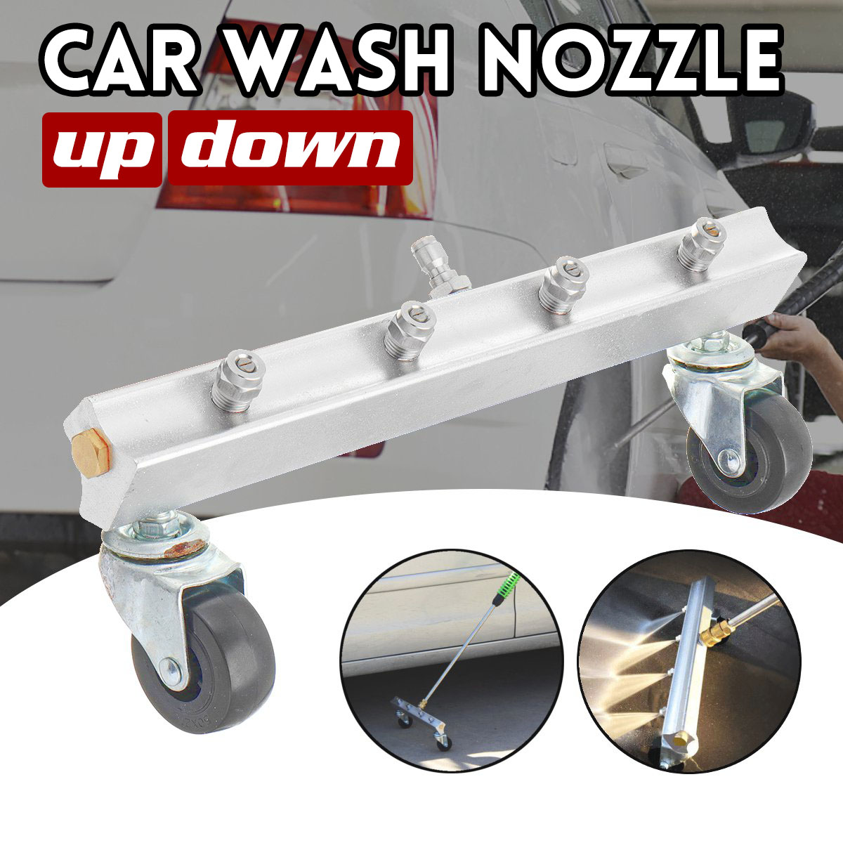 Multi-function Car Wash Nozzle Factory Home Up/Down Washing Machine 1/4 insert