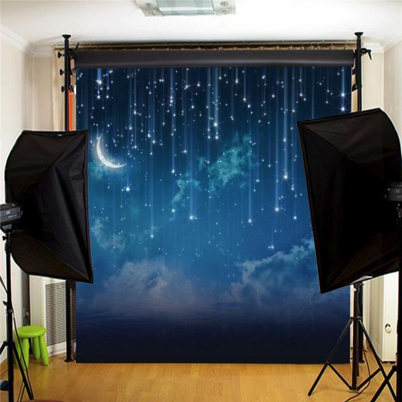 Szövet háttér fotózáshoz.Éjszakai égboltot ábrázoló stúdió háttér 3 x 3m 1115751