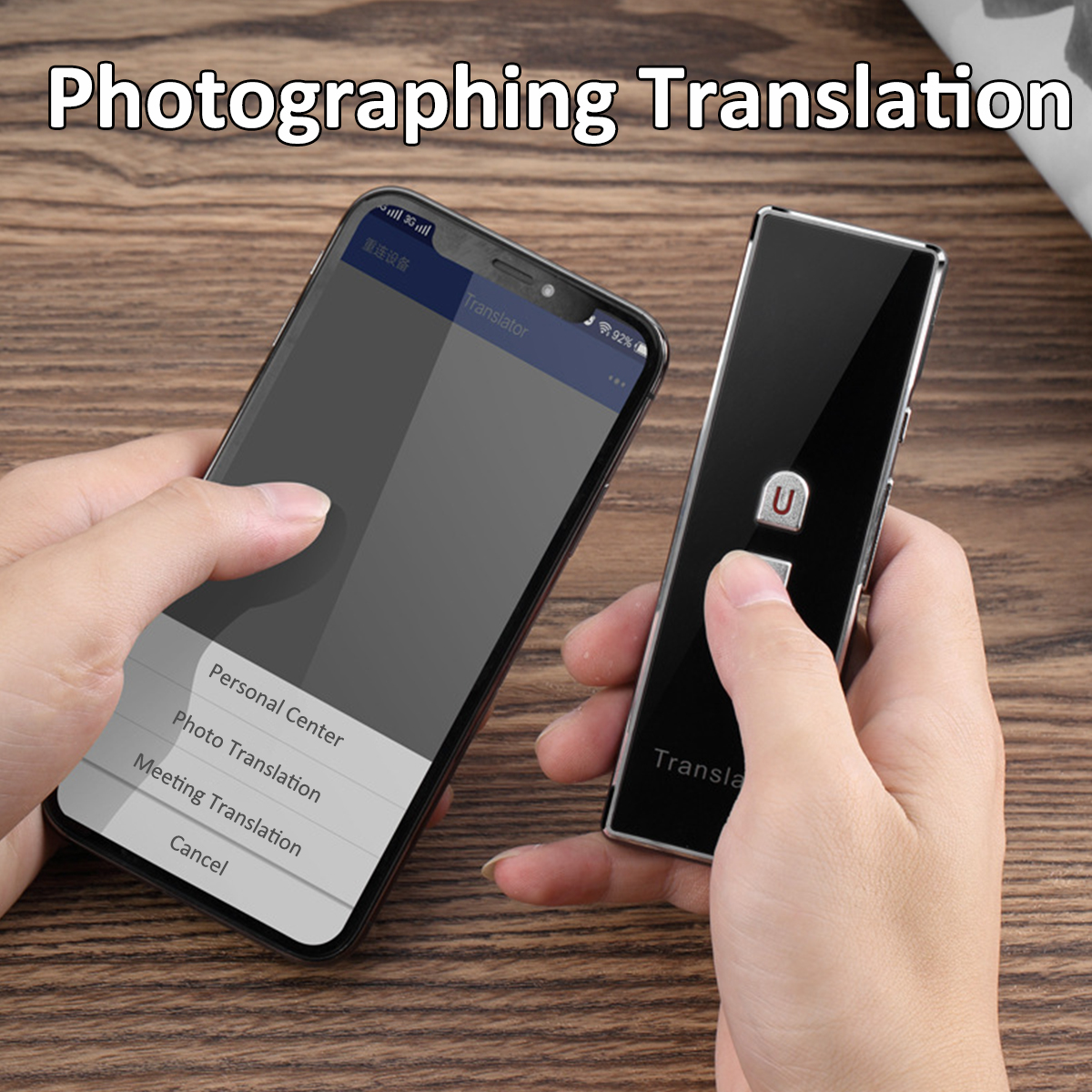 Smart Voice Translator Instant bluetooth 40 Languages Meeting Speech Travel
