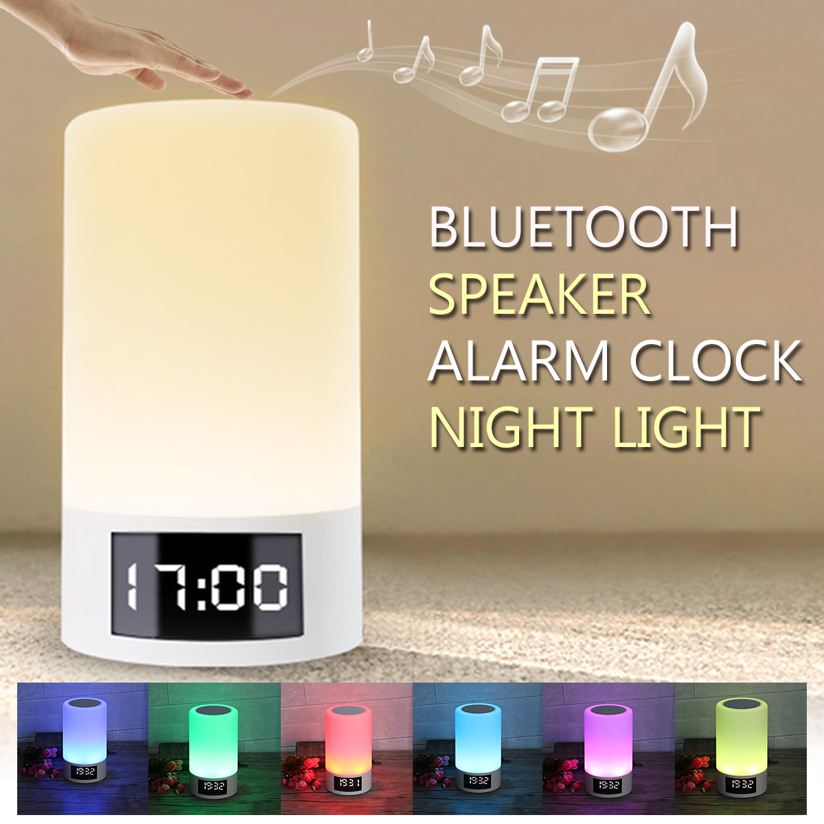 M6 Led Light Wireless Bluetooth Speaker 4000mah Colorful