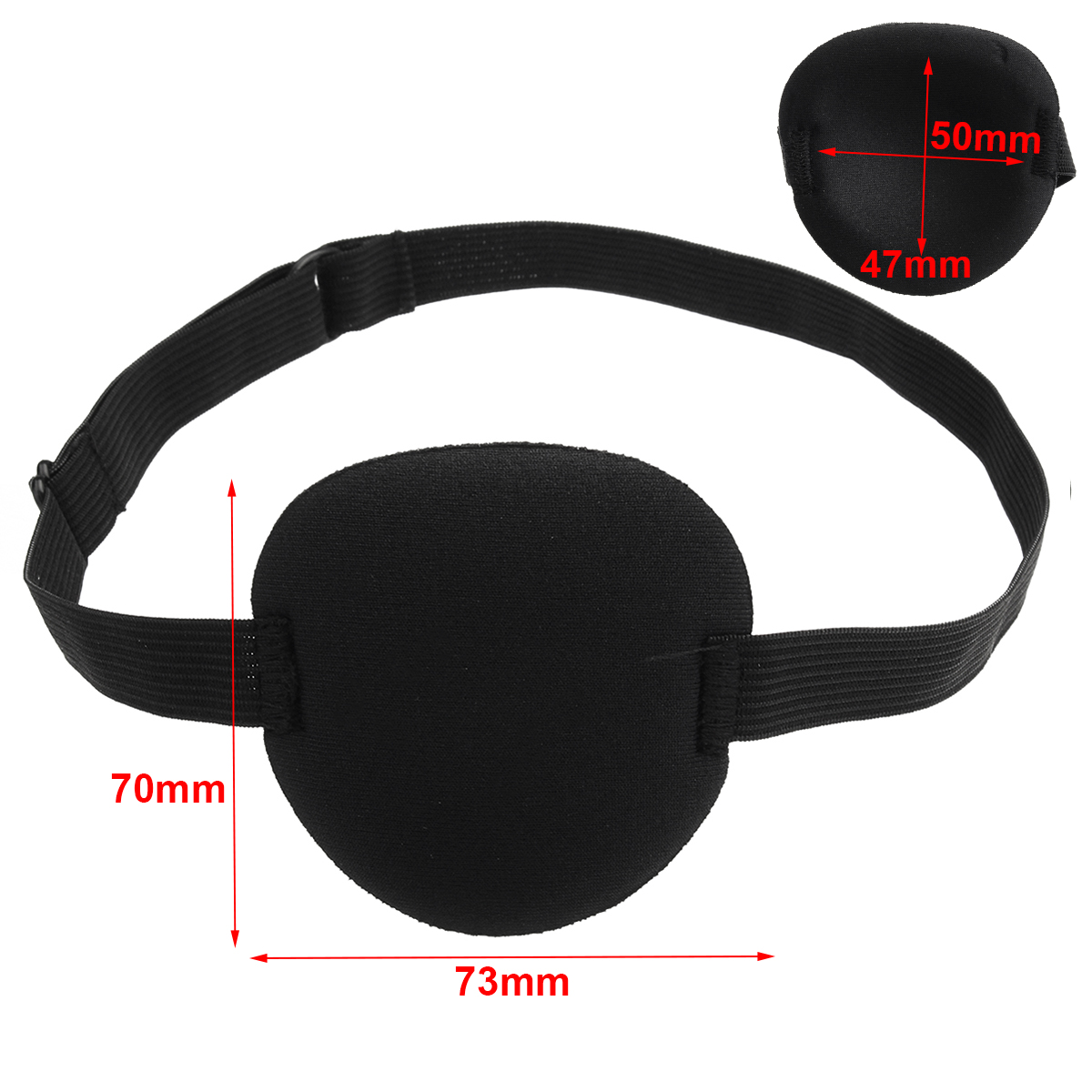 Concave Eye Patch Groove Washable Eyeshades With Adjustable Strap For Kids/Adult