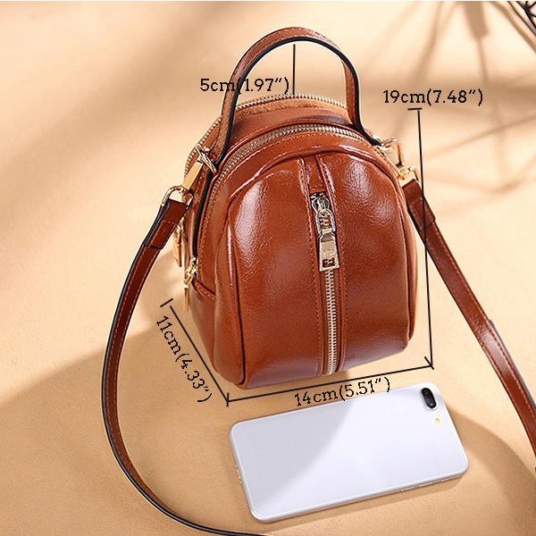 Women Faux Leather Wild Crossbody Bag Fashion Shell Bag