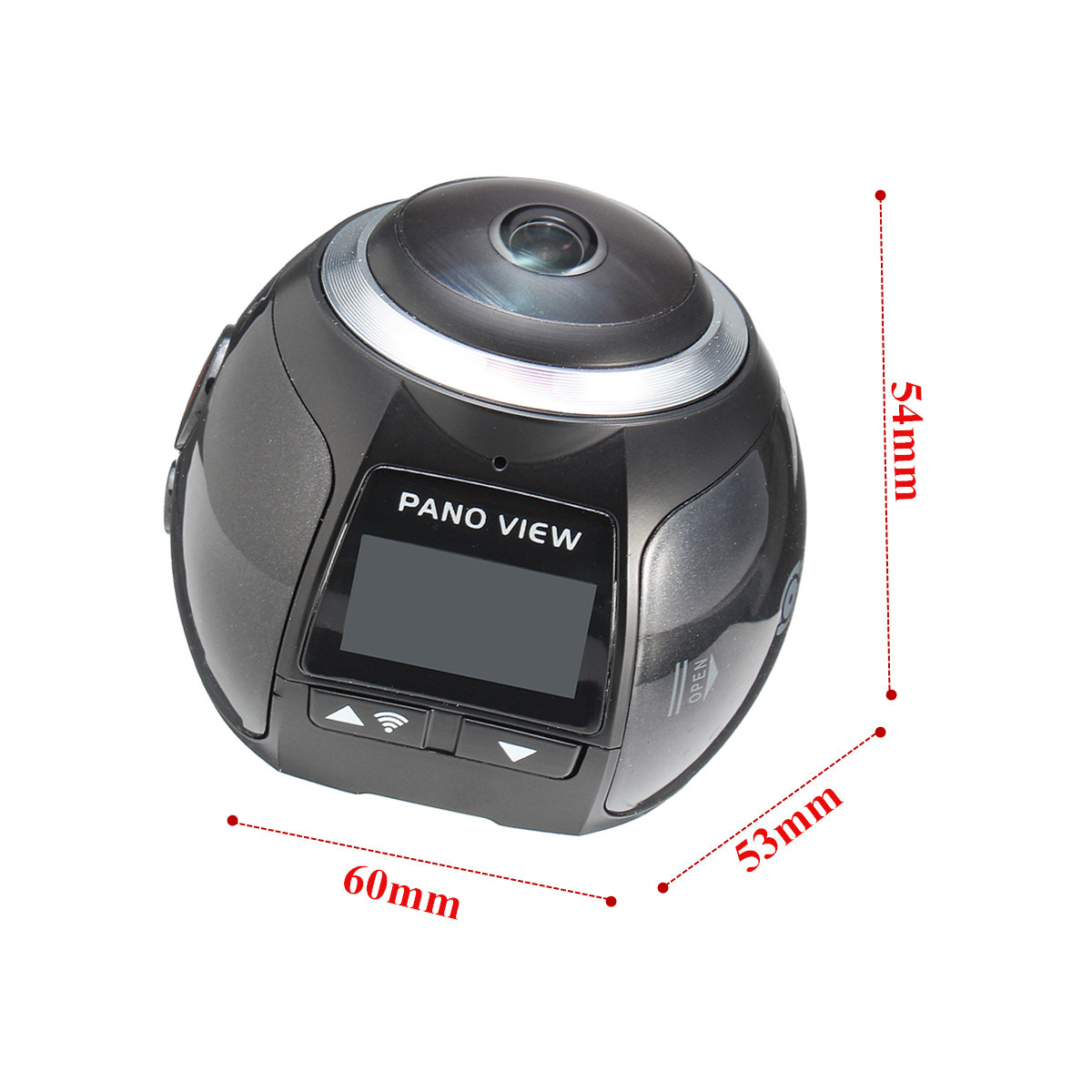 0.96 Inch 4K FHD 360 Degree Mini VR WIFI Action Sport Waterproof Camera DV Loop Recording
