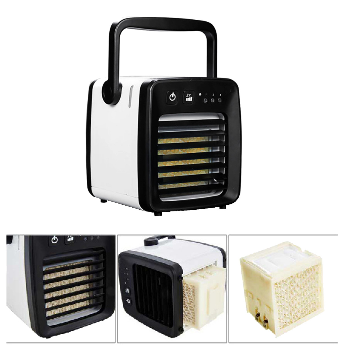 3 In 1 Personal 3 Speed Air-cooler Air Conditioner Cooling Fan Evaporative Humidifier Purification
