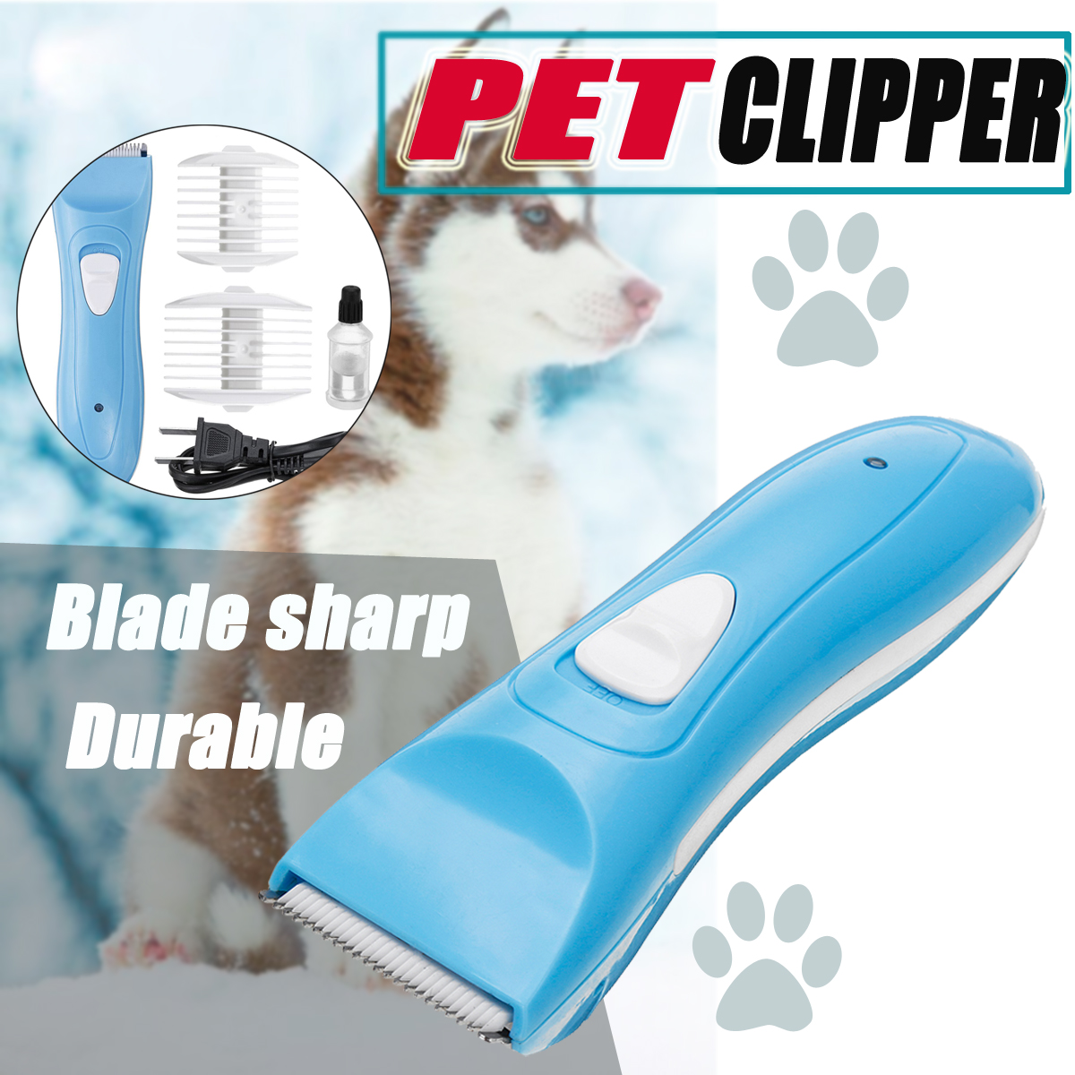 Electric Dog Cat Pet Hair Clipper Comb Set