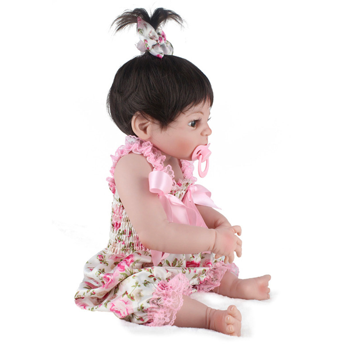 NPK 22inch Reborn Baby Doll Silicone Handmade Lifelike Girl Play House Toy