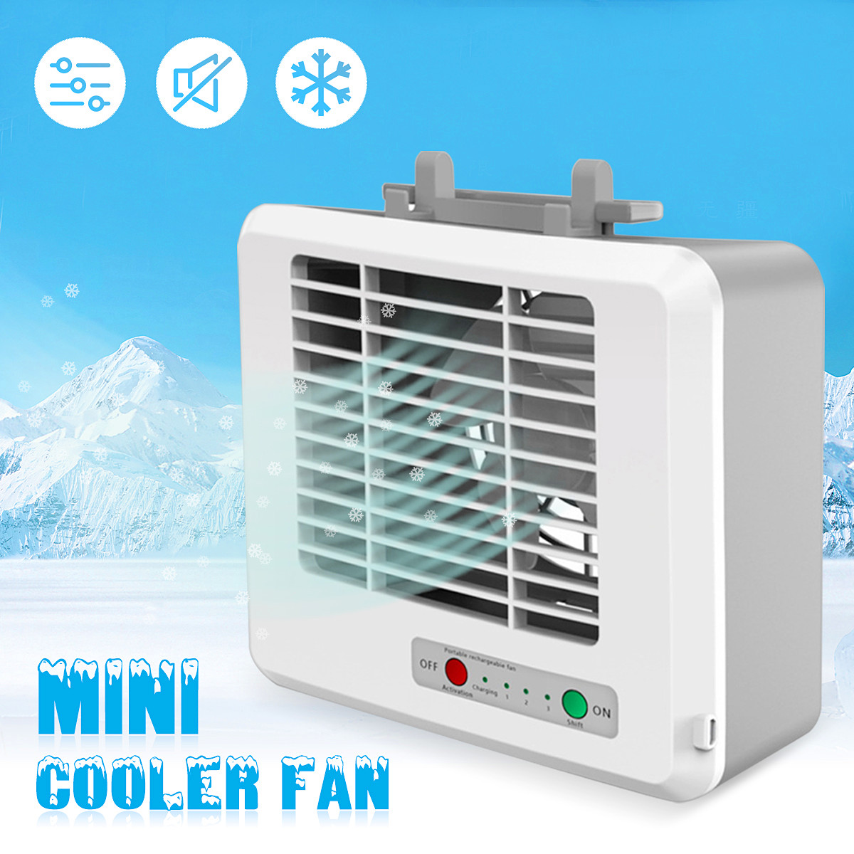 5V Portable Desktop Mini USB Quiet Strong Air Cooler Fan