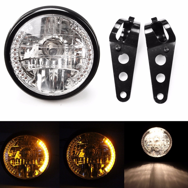 7inch 35W Motorcycle Headlight Turn Signal Light With Bracket Mount