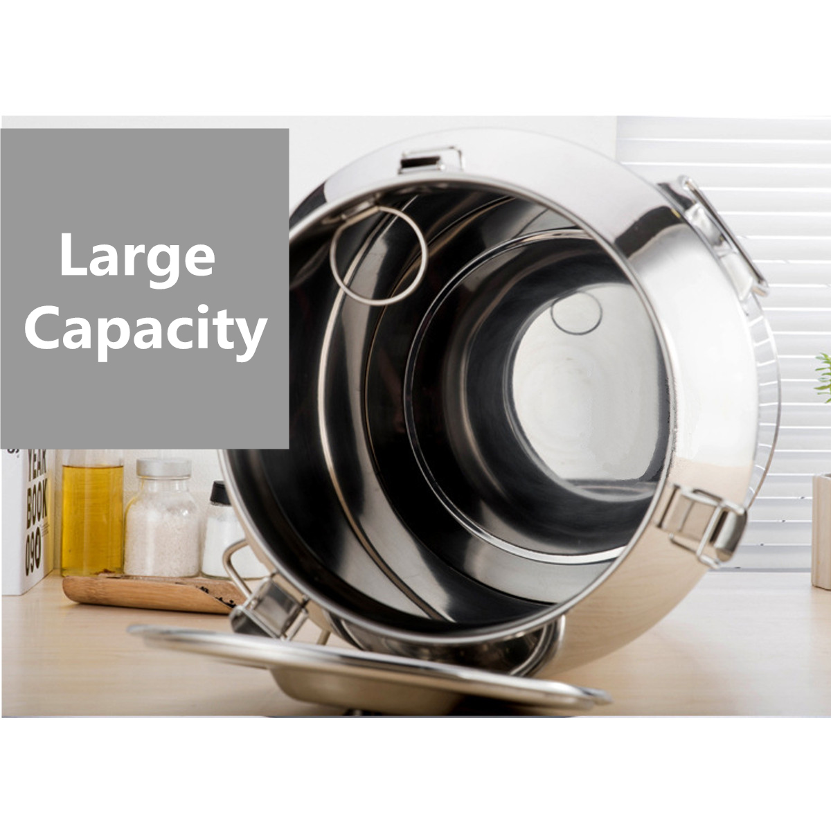 58L (35X60cm) Stainless Steel Milk Can Wine Pail Water Bucket Oil Barrel Tea Canister