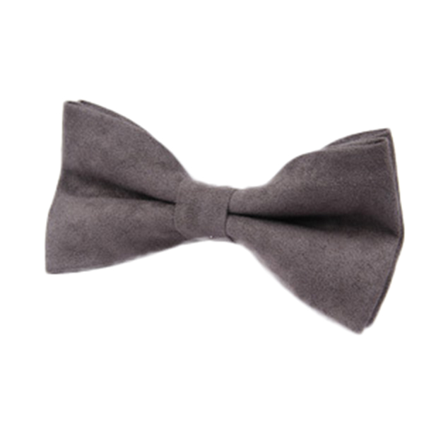 Men Solid Double Layer Formal Suit Corduroy Business Bow Tie
