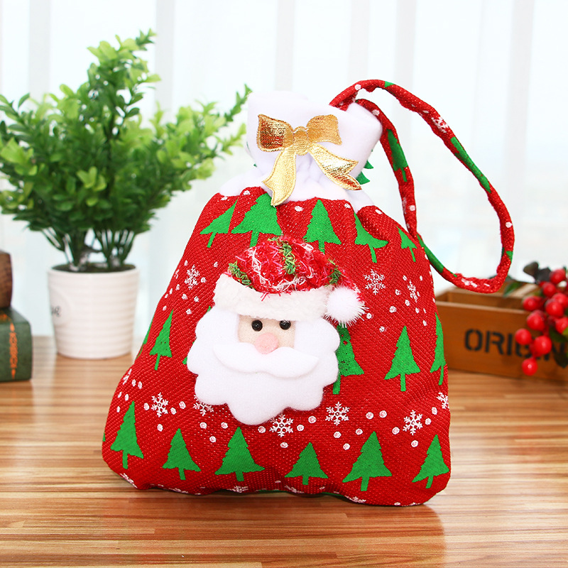 Christmas Gift Bag For Candy Christmas Gift Bags Christmas Ornament Decoration Santa Claus