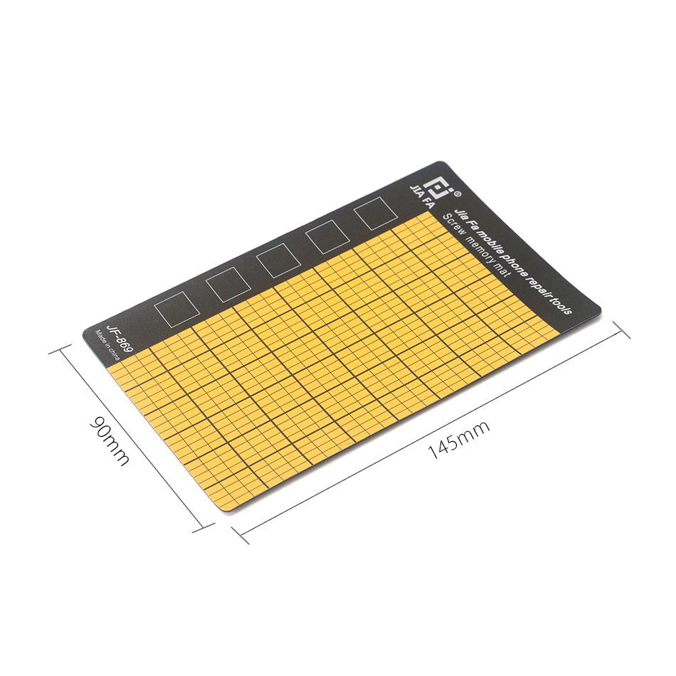 JF-869 Magnetic Screw Mat Memory Chart Work Pad Mobile Phone Repair Tools 145 x 90mm