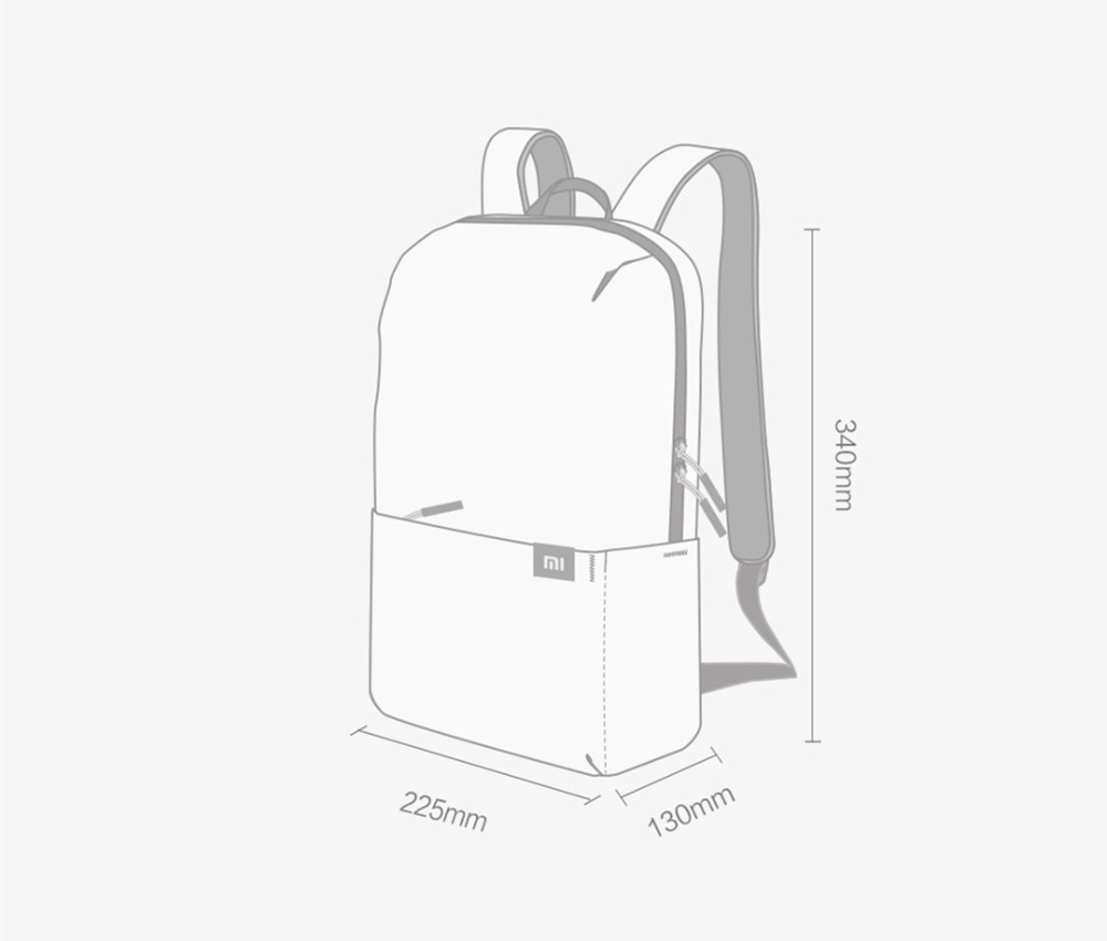 Original Xiaomi 10L Backpack Bag 8 Colors Level 4 Water Repellent 165g Weight YKK Zip Outdoor Chest Pack For Mens Women Travel Camping