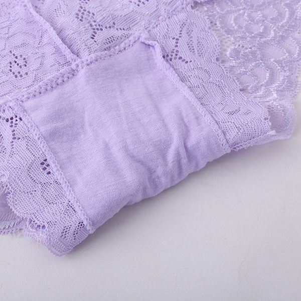 Women Lace Embroidery High Waist Panties