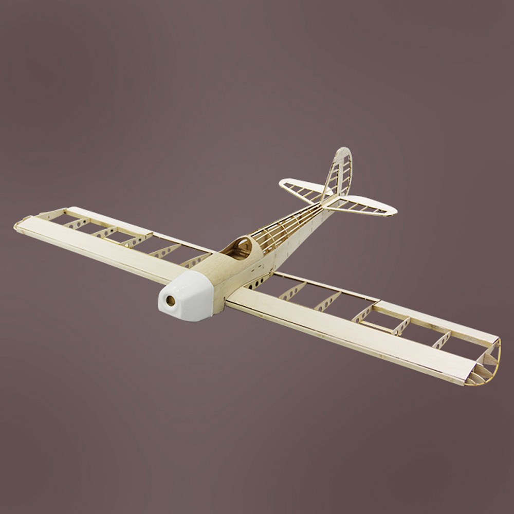 Rambler 1000mm Wingspan Balsa Wood Laser Cut Trainer RC Airplane Kit With Landing Gear
