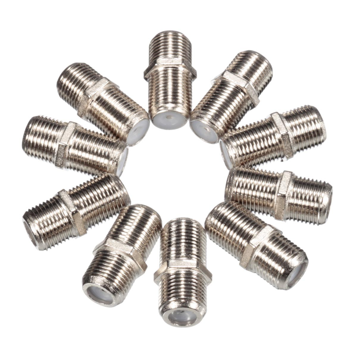 10 Pcs Joiner Barrels Connector F Plug Coupler Adapter 4 Sky Plus HD TV Coax Cable