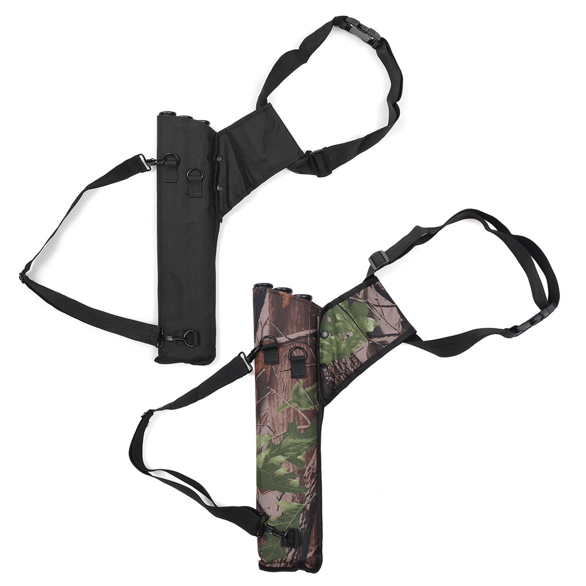 3 Tube Adjustable Back Waist Belt Bag Quiver Archery Bow Holder Hip Bag Case Bow