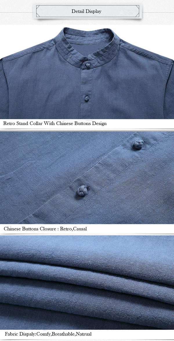 TWO-SIDED Comfy Cotton Vintage Chinese Buttons Loose Shirts
