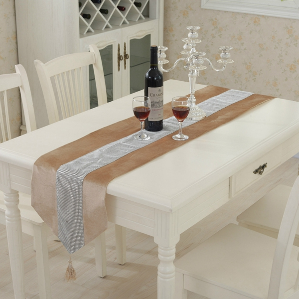 32x180cm Wedding Luxury Modern Diamond Table Runner Home Party Decoration