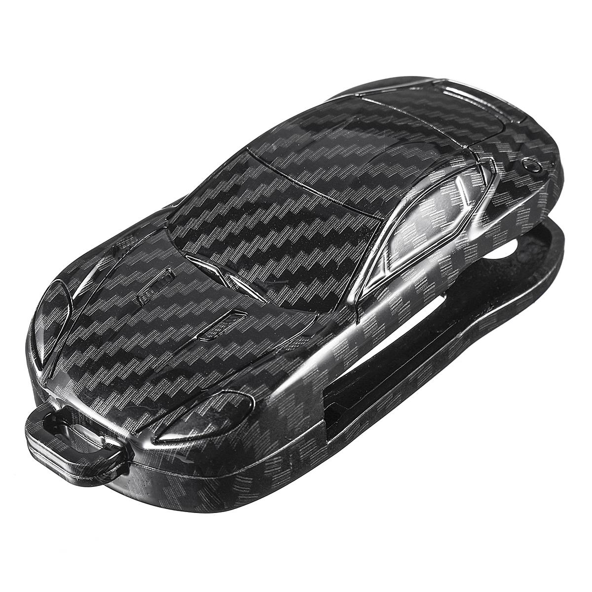 Carbon Fiber Car Key Case/bag Protector Cover Remote Control Bag for VW Golf Bora Jetta POLO Passat