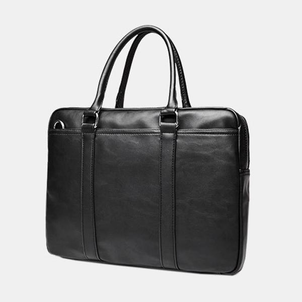 Men Black Brown Business Handbag