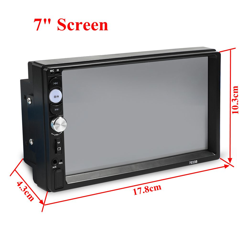 7 Inch 2 Din Quad Core WINCE System Car DVD Player MP5 FM bluetooth Stereo