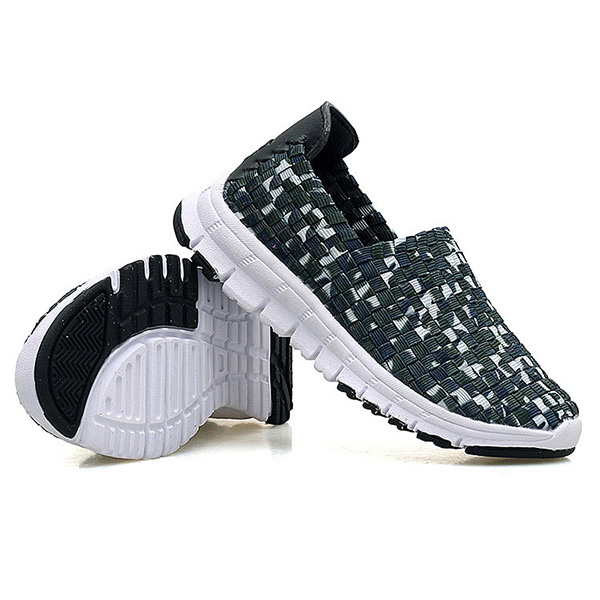 Women Knitting Casual Shoes Breathable Light Flats