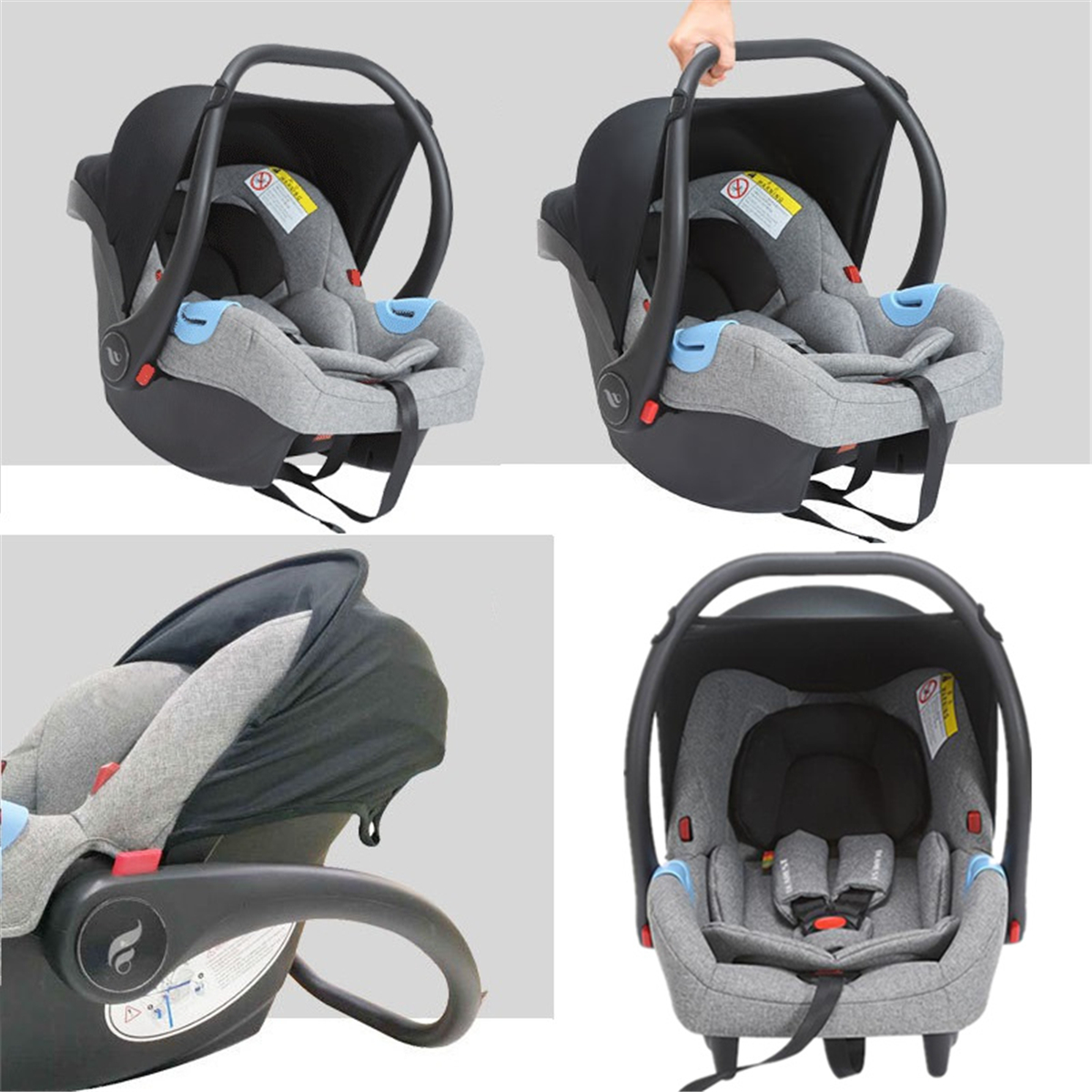 4 In1 Portable Baby Car Infant Safety Cradle Seat Newborn Boy Girl Toddler Protect Chair