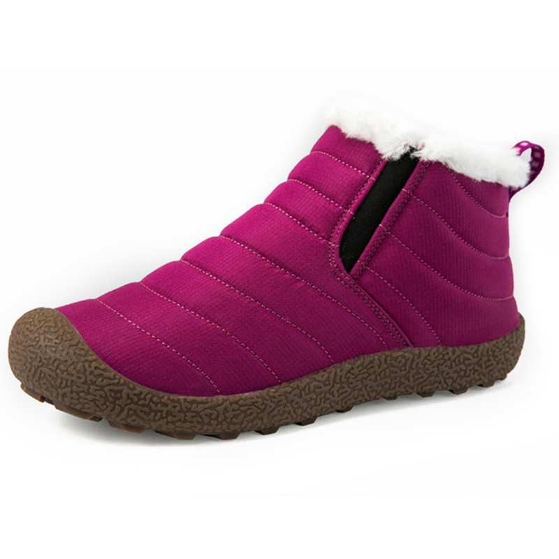 Waterproof Warm Snow Slip On Outdoor Ankle Boots