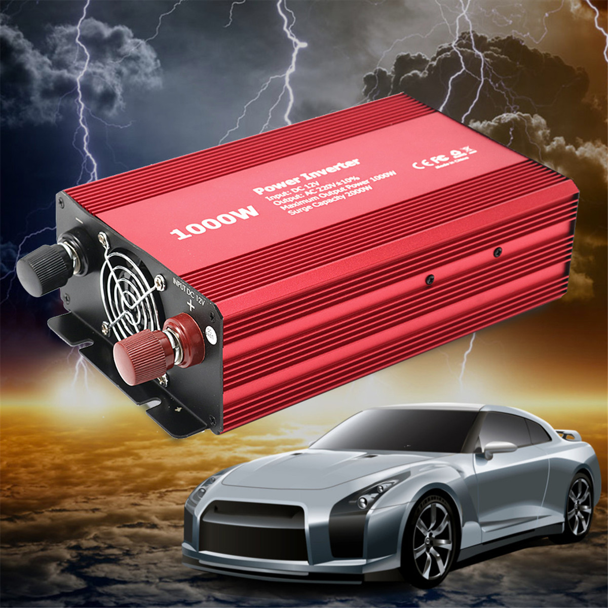 1000W Car Auto Power Inverter 12V DC to 220V AC Charger Supply Converter Adapter