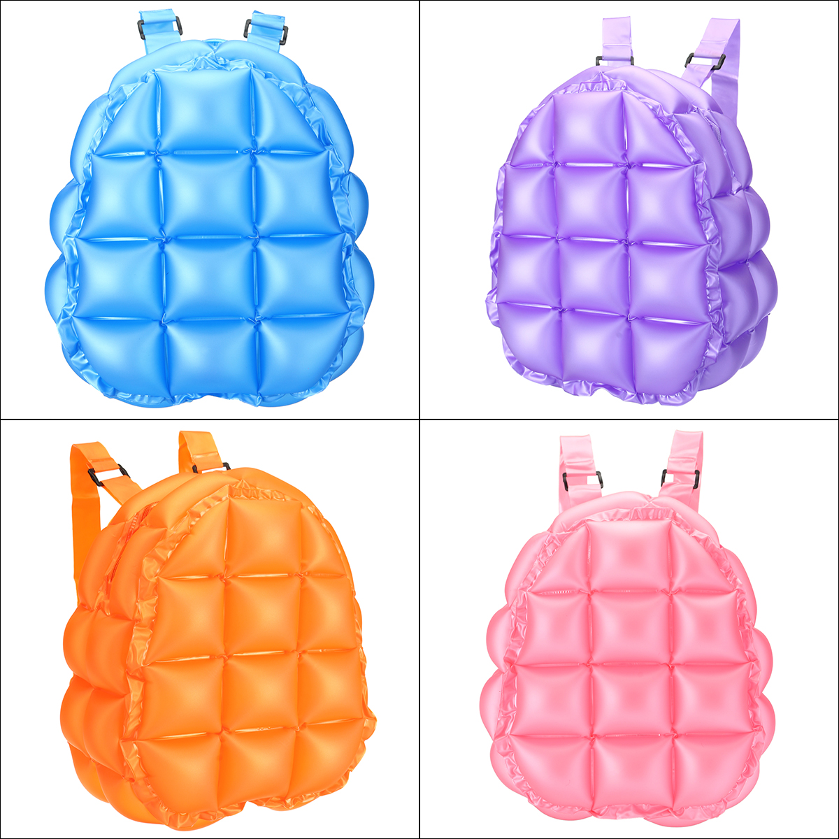 Inflatable Bubble Blow Up Backpack 90s Retro Rave Festive Bopping Spice Girls Space Bags