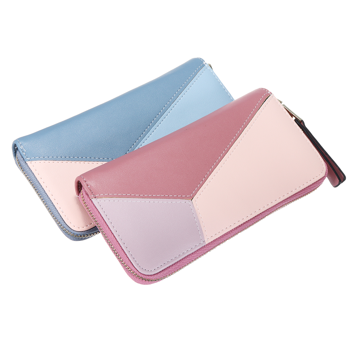 Multi Card Slots PU Leather Phone Wallet Zipper Bag Clu