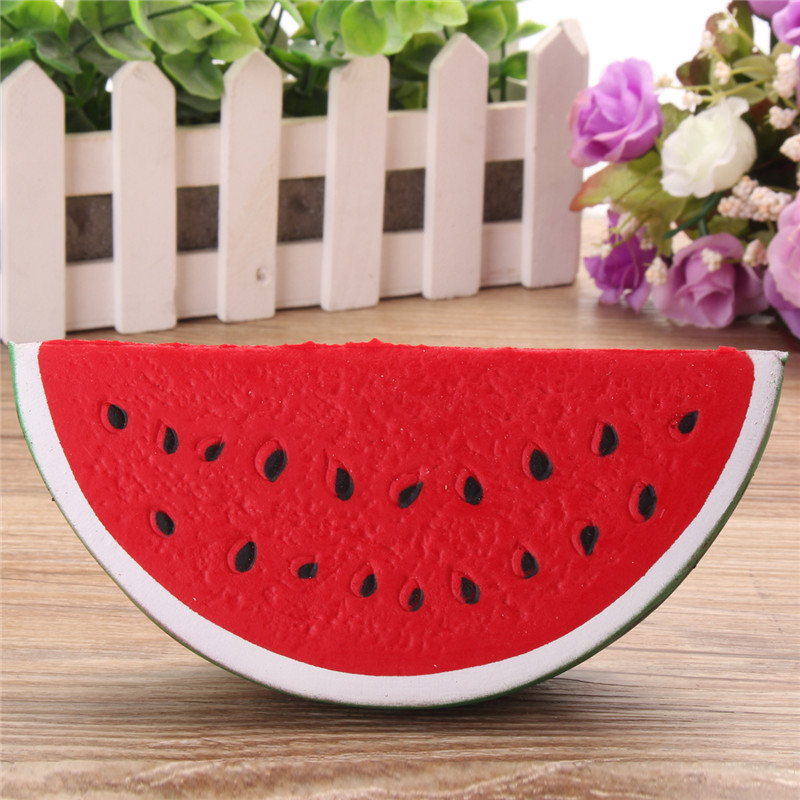 Watermelon 15CM Slow Raising Stress Reliever Squishy Healing Toy Squeeze Fun Kid Gift