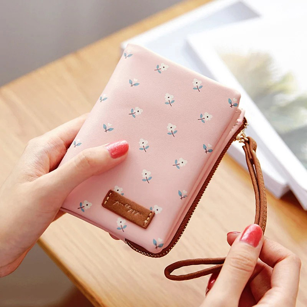 Women Faux Leather Cartoon Girlish Wallets Card Holder Purse