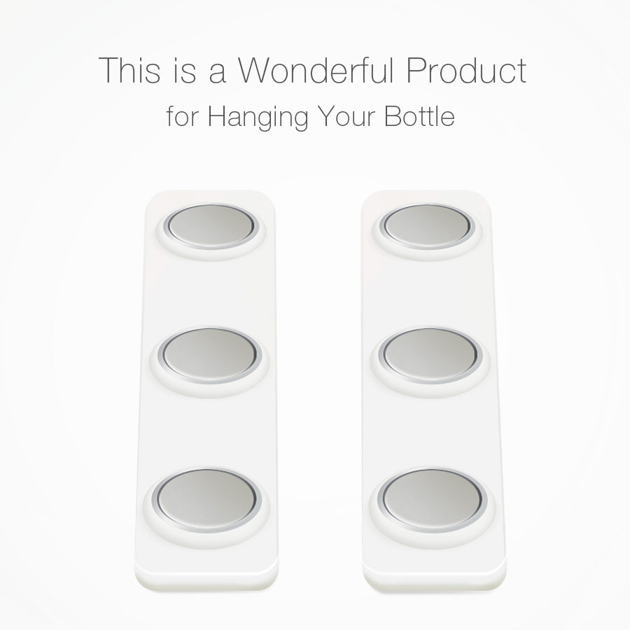 KCASA KC-BH06 2Pcs Refrigerator Fridge Magnet Beer Bottle Jar Hanger Holder Storage Loft Organizer