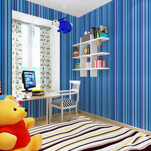 Waterproof Stripe Wallpaper Self Adhesive Wardrobe Door Kitchen Wall Stickers