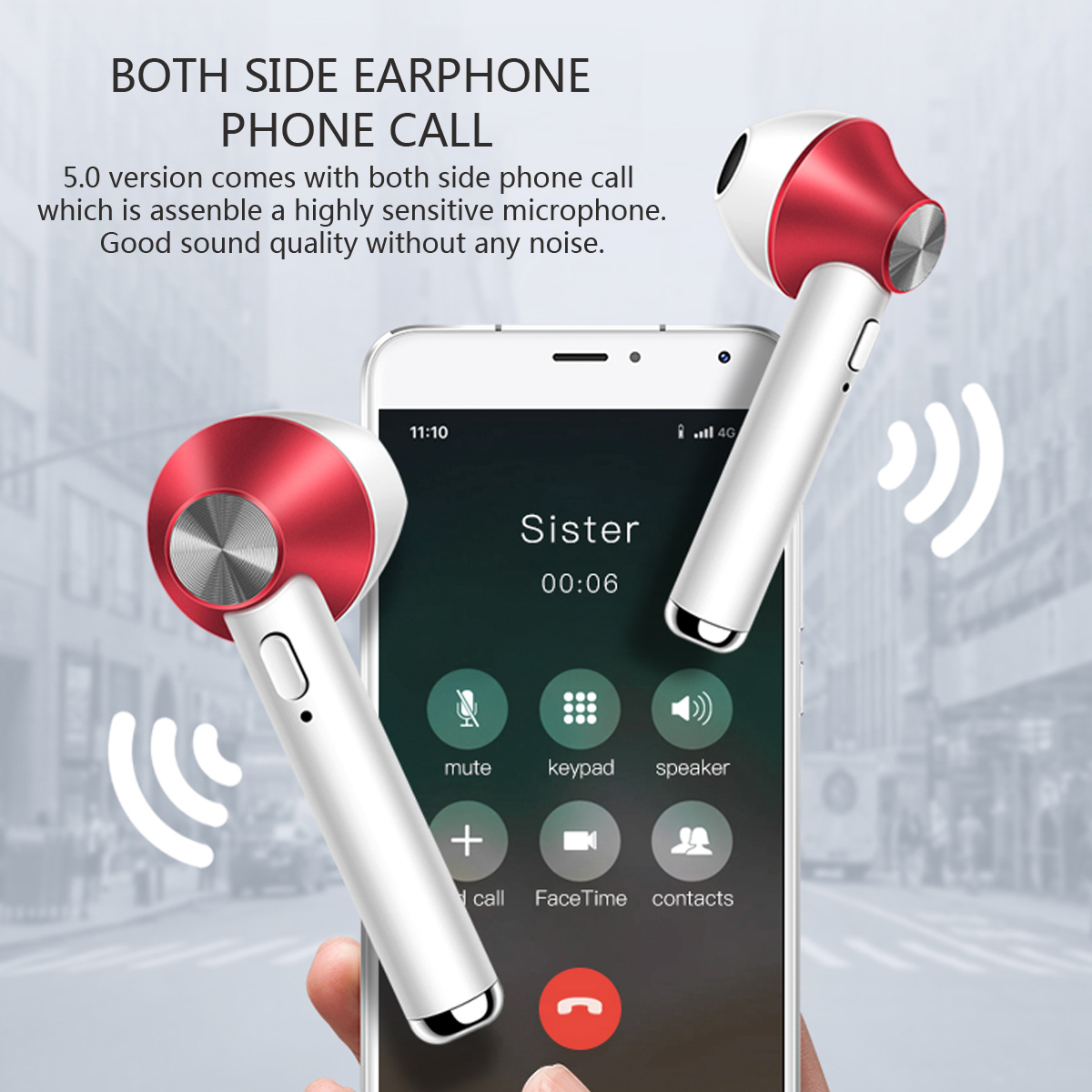 D012 True Wireless Headset bluetooth 5.0 Earphone TWS Binaural Call Stereo Sound With Mic for Iphone Xiaomi