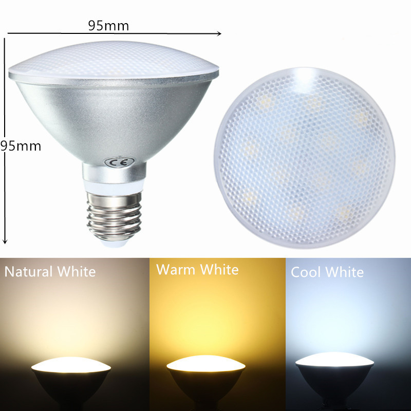 Dimmable E27 PAR30 12W LED Pure White Warm White Natural White Spot Lightt Bulb AC220V