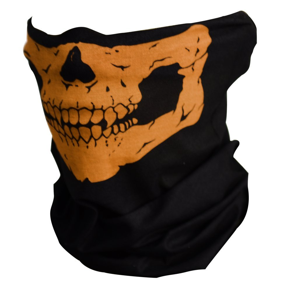 Multifunctional Seamless Changed Magic Scarf Halloween Costumes Skull Head Scarf Mask Multicolor